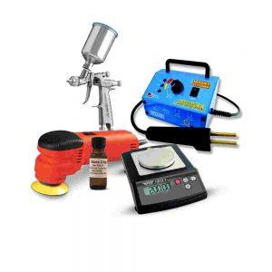 Misc. Equipment: Windshields, Wheel Bands, Paint Guns...
