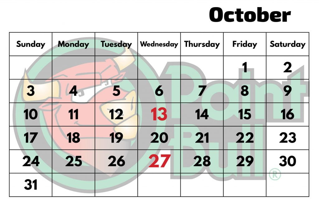 Oct 2021 Free Shipping Calender